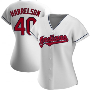 Women's Cleveland Indians Ken Harrelson White Home Jersey - Authentic